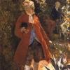 """Aleksander Gierymski, Pan w czerwonym fraku studium do obrazu """"W altanie"""" , 1876-1880, MSŁ"""