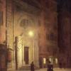 Aleksander Gierymski, Piazza Colonna w Rzymie w nocy, 1895, LGS