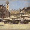 Aleksander Gierymski, Piazza delle Erbe w Weronie, ok. 1900, MNK