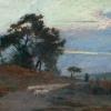 Maksymilian Gierymski, Krajobraz o wschodzie słońca, 1869, wł. MNW