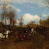 Maksymilian Gierymski, Polowanie »par force« na jelenia, 1874, wł. Kunsthalle Kiel