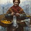 Aleksander Gierymski, Żydówka z pomarańczami, ok. 1880-1881, MNW