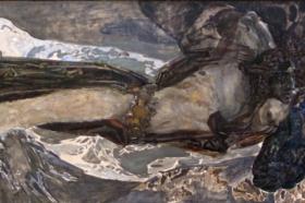"""""""Lecący Demon"""", 1899 (Państwowe Muzeum Rosyjskie, Sankt Petersburg)"""