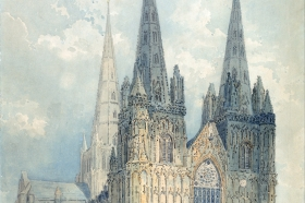 Thomas Girtin, Lichfield Cathedral, Staffordshire, 1794 (© Yale Center for British Art, New Haven, USA)