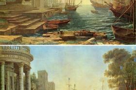 Claude Lorrain - Św. Urszula wypływa z Rzymu, 1642 r. – www.behance.net/bencehajdu