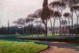 Aleksander Gierymski, Pinie przy Villa Borghese w Rzymie, ok.1900, MNK