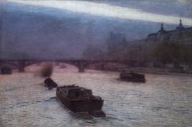 Aleksander Gierymski, Wieczór nad Sekwaną, 1893, MNK