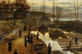 Aleksander Gierymski, Święto trąbek I, 1884, MNW
