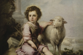 """Dobry Pasterz"", ok. 1660 (Museo Nacional del Prado, Madryt, Hiszpania)"
