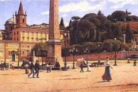 Aleksander Gierymski, Piazza del Popolo w Rzymie, 1900-1901, MNW