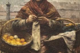Aleksander Gierymski, Żydówka z cytrynami, 1881, MŚK