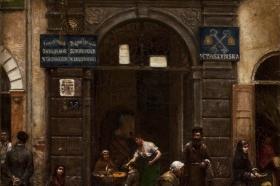Aleksander Gierymski, Brama na Starym Mieście, 1883, MSŁ