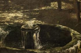"""Aleksander Gierymski, Fontanna, studium do obrazu """"W altanie"""" 1875-1879, MNK"""